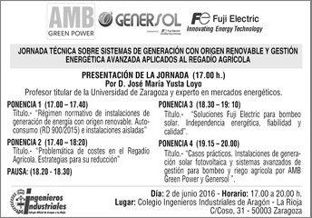 Gran éxito en la Jornada Técnica organizada por AMB/Genersol y Fuji Electric